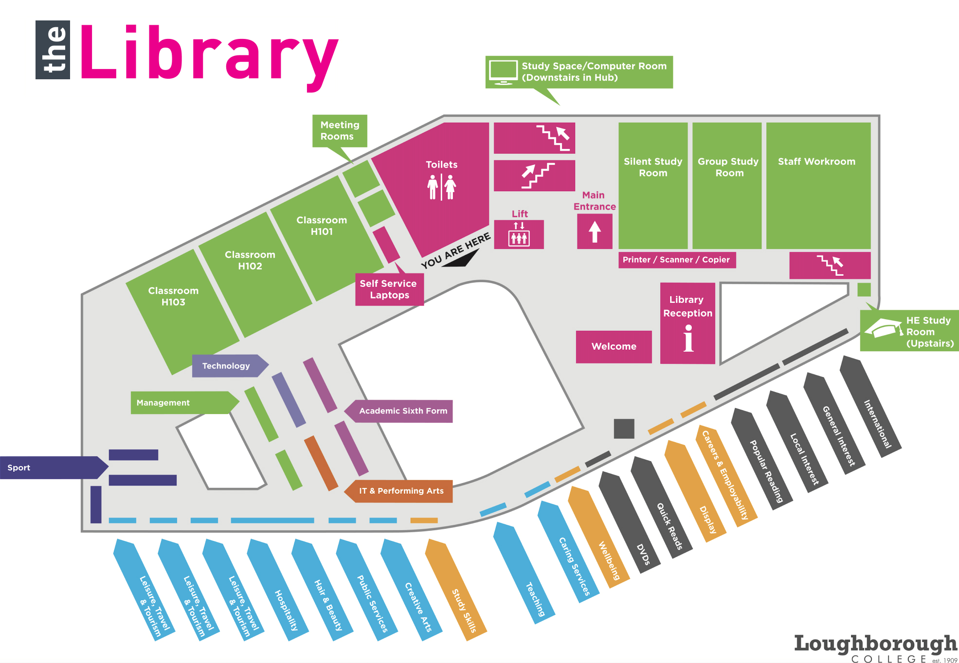 College Library Map